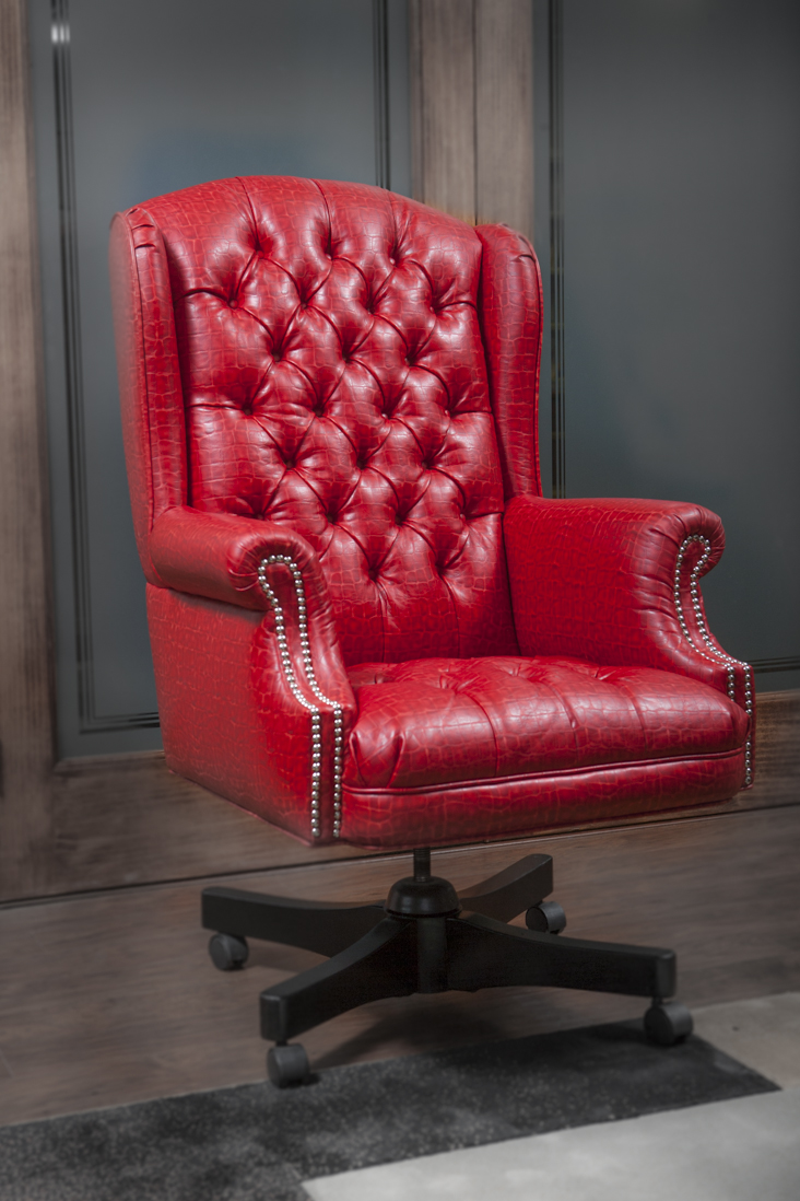 Awesome Red Alligator Office Chair Richards Upholstery Richards Andrewgaddart Wooden Chair Designs For Living Room Andrewgaddartcom