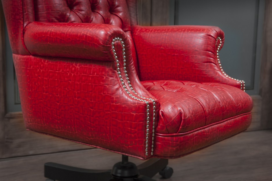 Astonishing Red Alligator Office Chair Richards Upholstery Richards Andrewgaddart Wooden Chair Designs For Living Room Andrewgaddartcom